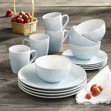 Mcleland Design 32 Pc Stoneware Dinnerware Sets Original Stoneware 16pc Dinnerware Set Dishwasher Safe Service For Four 3 Colors