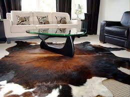 image of genuine ikea cowhide rug