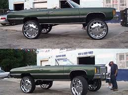Big Rimmed Chevys Strange Ghetto Big Rim Custom Cars S