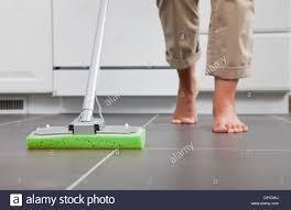 Mopping Kitchen Floor Woman Cleaning Floor Mop Stock Photos Woman Cleaning Floor Mop