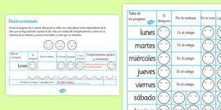 Spanish Commands Chart Home Behaviour Progress Chart Spanish Spanish Home
