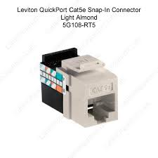 leviton quickport category 5e gigamax snap in connector jack leviton quickport category 5e gigamax almond icon