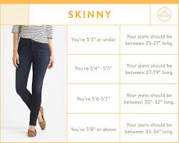 Height And Inseam Chart Guide To Denim Inseams For Women Stitch Fix Blog Stitch