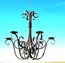metal hanging candle chandelier hanging candle delier outdoor non electric iron black chandelier lighting near