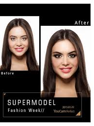 youcam makeup has released supermodel inspired makeup styles and before after frames so you can share your camera ready makeup transformation