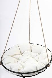 Exciting Outdoor Papasan Chair For Home Furniture Ideas: Hanging Outdoor Papasan  Chair With White Cushion