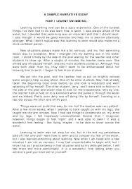 Examples Narrative Essay Example Narrative Essay Writing A Narrative
