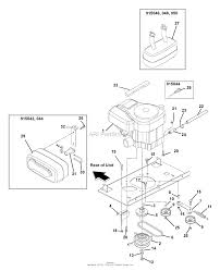 gravely 915044 010000 zt1740 17hp kohler 40 deck parts engine exhaust belts and idlers diagram gif