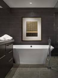 Inspiration for a contemporary gray floor freestanding bathtub remodel in  Phoenix