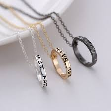 details about new f ring best friends forever set pendant 3 pieces necklace friendship rings