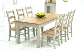 extendable glass dining table and 6 chairs round set oak grey painted sets