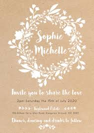 Wedding Invitatiins Folk Love White Ink Wedding Invitations