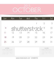 Template Monthly Calendar 2015 2015 Calendar Monthly Calendar Template October