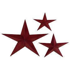 Metal Star Wall Decor Shop Woodland Imports 3 Piece W X H Frameless Metal Stars 3d Wall