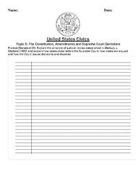 Decision Essay The Constitution Amendments And Supreme Court Decision Essay Prompt Standard 33
