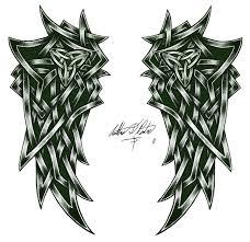 эскиз тату фото крылья из кельтских узоров татуировки и эскизы крылья
