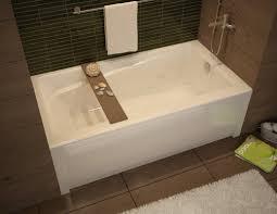 maax 105519 000 001 103 white professional exhibit 6030 soaking tub 60 l x 30 w x 18 with right side drain 105519 103