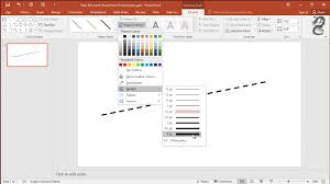 (the color and style of these dots vary among different versions of office.) How To Make A Dashed Line In Powerpoint Youtube