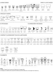 Chart Of Light Bulb Shapes Sizes Types Infographic