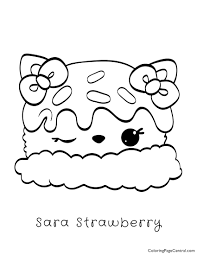 Num Noms Sara Strawberry Coloring Page Coloring Page Central