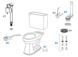 inside parts of a toilet tank. parts diagram for promenade toilets inside of a toilet tank