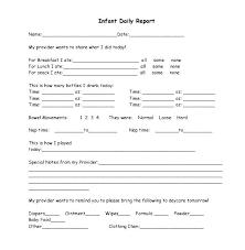 baby daily report sheet daily report card template unique preschool behavior generator