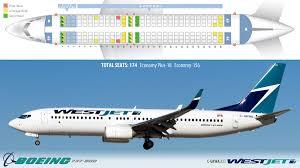 Westjet 737 Seating Chart Westjet Boeing 737 800 Winglets Air Transat Canadian