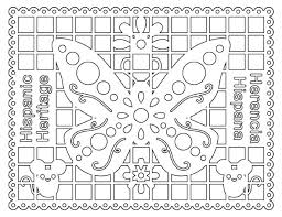 Hispanic Heritage Coloring Pages Hispanic Heritage Coloring Pages Sheets Month
