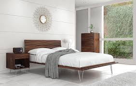 Contemporary Bedroom Furniture  Wave Platform Bed
