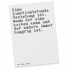 Postkarte Spruch Beziehung Partnerschaft Kochen Küche Liebe Ehe Gesc