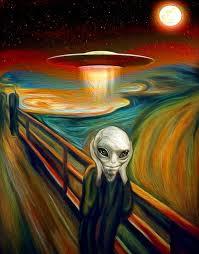 The Screaming Alien Art In 2019 Ufo Tetování Legrační Obrázky