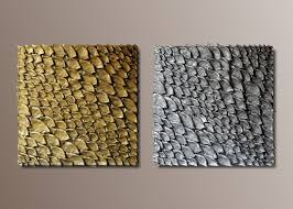 gold and silver 3d wall art large wall sculpture diptych  on modern 3d wall art with set of 2 large wall sculptures gold and silvertextured wall art