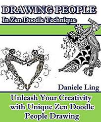 look inside this book drawing people in zen doodle technique unleash your creativity with unique zen doodle people drawing