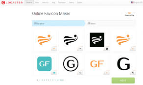 create logo favicon using logaster