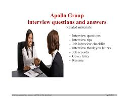 group interview questions apollo group interview questions and answers