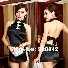 Ladies Sexy Fancy Chinese Cheongsam Dress Costume Women Night Wear Bedroom  Lingerie Fancy Dress Costume(