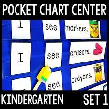 Kindergarten Pocket Chart Center Set 1 5 Sight Word Pocket Chart Activities