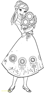 Princess Coloring Pages Anna With Disney Frozen Printable 8 O 9 And