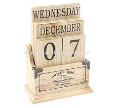 This adorable Vintage Style perpetual calendar is the perfect addition to  your table. Hade from wood with vintage look and design Displaying the 12  calendar ...
