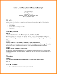 Resume For Medical Receptionist 24 Medical Receptionist Resume Objectives Certificate Pics 15