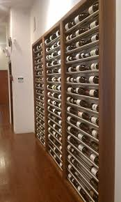 Wall wine racks Recessed Contemporary Metal Wine Racks Building Wine Cellars With Joseph Curtis Pinterest Contemporary Metal Wine Racks Building Wine Cellars With Joseph