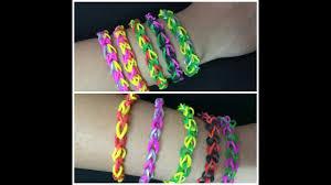 2 Easy Rainbow Loom Bracelets Designs Diy Rubber Band Bracelets Friendship Bracelets