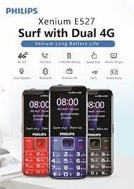 Điện thoại di động E-UTRA FDD (4G) Philips Xenium E527 Black - Hàng Chính  Hãng - Điện thoại phổ thông