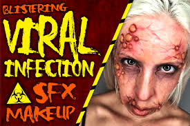 how to create a viral infection with fake blisters sfx makeup
