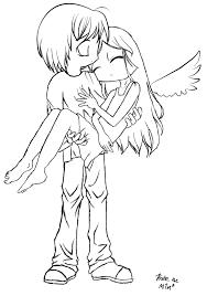 Fallen Angel Lineart By Mimblewimbledeviantartcom Color Me