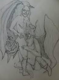 Angel Sketch Details About Sexy Angel N Devil Sketch