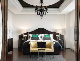 splendid black chandelier design by gorgeous white ceiling design and exquisite white shade lamp ideas beside interesting black headboard