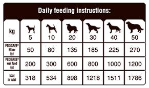32 Disclosed Pedigree Feeding Chart