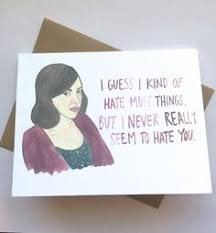 parks and rec card april ludgate love by averycbellart on etsy s