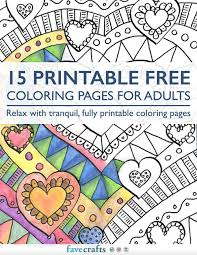 Small Picture 15 Printable Free Coloring Pages for Adults PDF FaveCraftscom